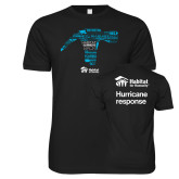 Next Level SoftStyle Black T Shirt-Habitat Hammers Back, $10 each t-shirt sold goes directly to Habitat disaster response efforts