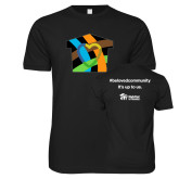 Next Level SoftStyle Black T Shirt-Beloved Community