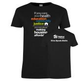 Ladies Black T Shirt-Making Housing Affordable