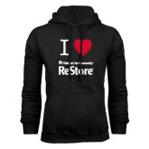 Black Fleece Hoodie-I Heart Restore