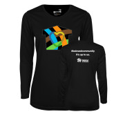 Ladies Syntrel Performance Black Longsleeve Shirt-Beloved Community