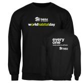 Black Fleece Crew-World Habitat Day