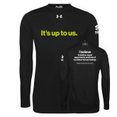 Under Armour Black Long Sleeve Tech Tee-Its up to us