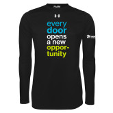 Under Armour Black Long Sleeve Tech Tee-Every Door Opens A New Opportunity