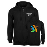 Black Fleece Full Zip Hoodie-Beloved Community Its Up To Us