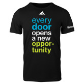 Adidas Black Logo T Shirt-Every Door Opens A New Opportunity