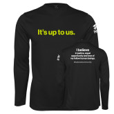 Performance Black Longsleeve Shirt-Its up to us