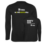 Performance Black Longsleeve Shirt-World Habitat Day