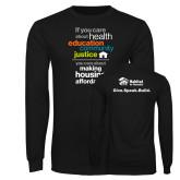 Black Long Sleeve T Shirt-Making Housing Affordable