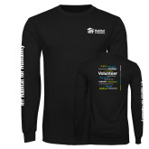 Black Long Sleeve T Shirt-Habitat Volunteer Design