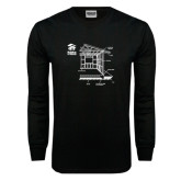 Black Long Sleeve TShirt-Habitat Room Frame