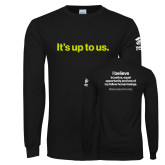 Black Long Sleeve T Shirt-Its up to us
