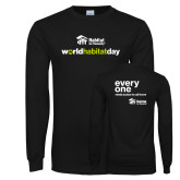 Black Long Sleeve T Shirt-World Habitat Day