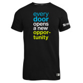Russell Black Essential T Shirt-Every Door Opens A New Opportunity