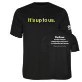 Performance Black Tee-Its up to us