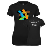Ladies Syntrel Performance Black Tee-Beloved Community