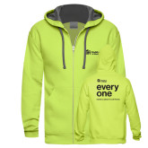 Bright Green Sofspun Full Zip Hood-Citrus