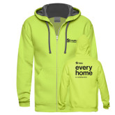 Bright Green Sofspun Full Zip Hood-every home