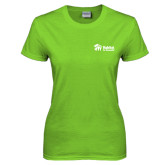 Ladies Lime Green T Shirt-