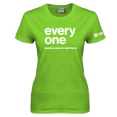Ladies Lime Green T Shirt-Everyone