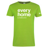 Ladies Lime Green T Shirt-Every Home