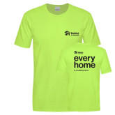 Bright Green Sofspun Crew T Shirt-every home