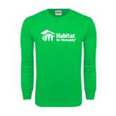 Kelly Green Long Sleeve T Shirt-