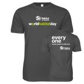 Next Level SoftStyle Charcoal T Shirt-World Habitat Day