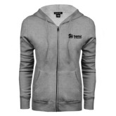 ENZA Ladies Grey Fleece Full Zip Hoodie-