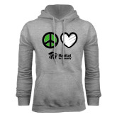 Grey Fleece Hood-Peace Love Habitat, Peace. Love. Habitat