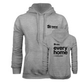 Grey Fleece Hoodie-Every Home Stacked