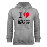 Grey Fleece Hoodie-I Heart Restore