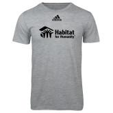 Adidas Sport Grey Logo T Shirt-