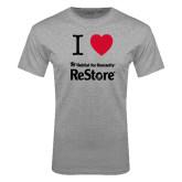 Grey T Shirt-I Heart Restore