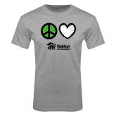 Grey T Shirt-Peace Love Habitat