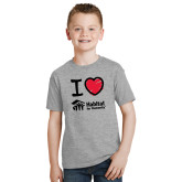 Youth Grey T-Shirt-I Love Habitat for Humanity