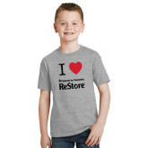 Youth Grey T-Shirt-I Heart Restore