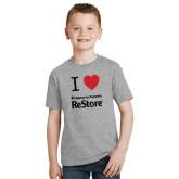 Youth Grey T-Shirt-I Heart Restore