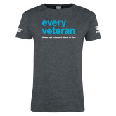 Ladies Dark Heather T Shirt-Every Veteran