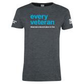 Ladies Dark Heather T Shirt-Every Veteran