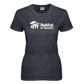 Ladies Dark Heather T Shirt-