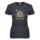 Ladies Dark Heather T Shirt-Love Opportunity Partnership