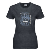 Ladies Dark Heather T Shirt-Planning My Work Working My Plan