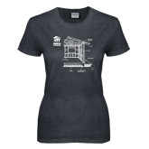 Ladies Dark Heather T Shirt-Habitat Room Frame