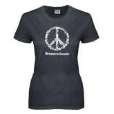 Ladies Dark Heather T Shirt-Peace Tools