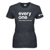 Ladies Dark Heather T Shirt-Everyone