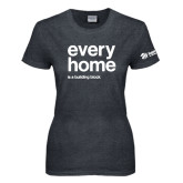 Ladies Dark Heather T Shirt-Every Home