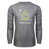 Grey Long Sleeve T Shirt-Love Opportunity Partnership