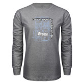 Grey Long Sleeve T Shirt-Planning My Work Working My Plan