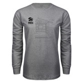 Grey Long Sleeve T Shirt-Habitat Room Frame